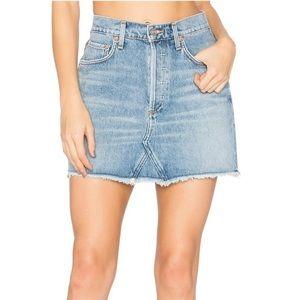 AGOLDE Quinn Button Fly Denim Skirt
